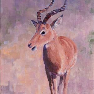 Oil painting of African Impala